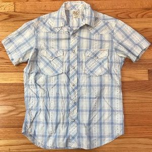Lucky Brand Button Down Polo Shirt Plaid